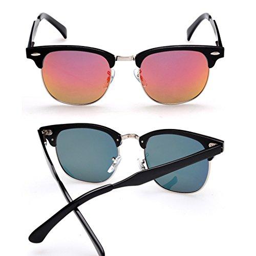Color Gafas Retro Sol WANGXIAOLIN De Hombres Naranja Naranja Simples PgY1Z4q