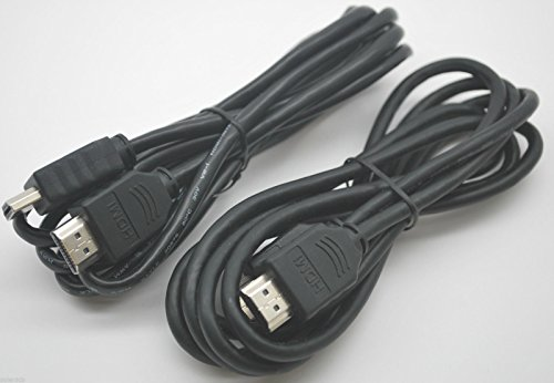 FYL LOT OF 2 NEW 6FT HDMI MALE to MALE WIRE FOR HDTV PLASMA DVD LCD SAT - Hd Receiver Sat
