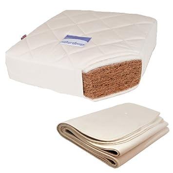 Natural Mat Coco Mat Con Protector de colchón Color: Coco Mat con Protector: Amazon.es: Bebé