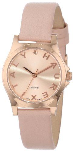 Mini Solid Gold Watch - Haurex Italy Women's 6R505DDT Diamond-Accented Mini City Rose Gold Dress Watch