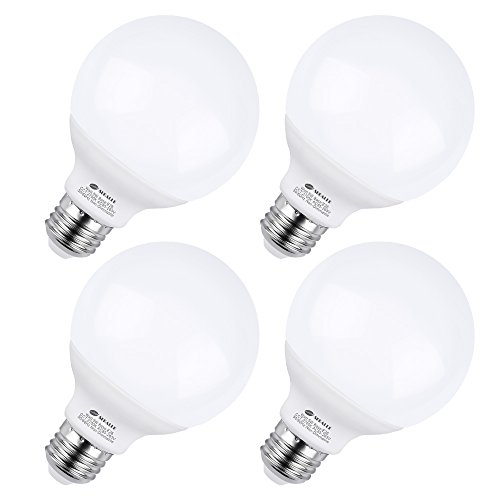 - Vanity Light Bulbs, Seealle G25 50W LED Globe G25 E26 Bulb Equivalent, 2700K Warm White, Medium E26 Base, Non-Dimmable, Make Up LED Light Bulbs for Bedroom Washroom Mirror(Pack of 4)