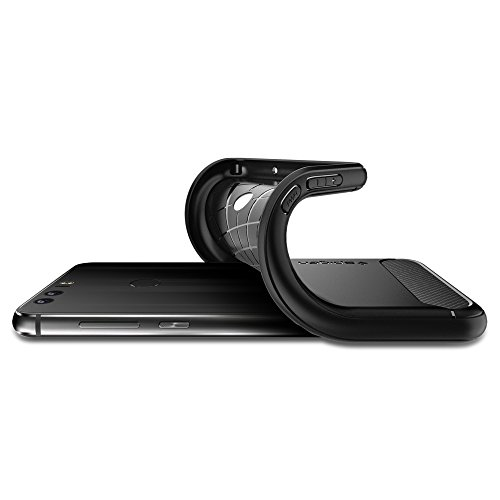 Spigen Rugged Armor Honor 8 Case with Resilient Shock Absorption for Huawei Honor 8 2016 - Black by Spigen (Image #4)