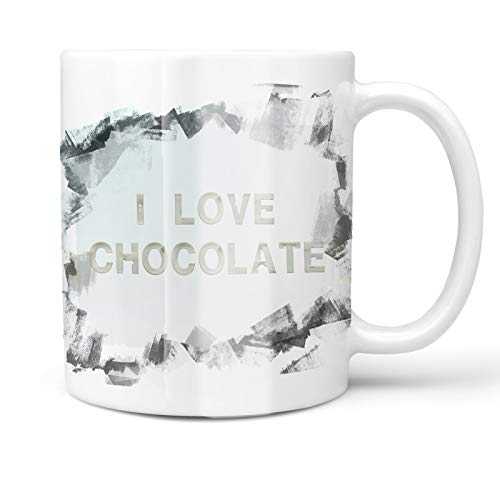 Neonblond 11oz Coffee Mug I Love Chocolate Milk Dairy with your Custom Name ()