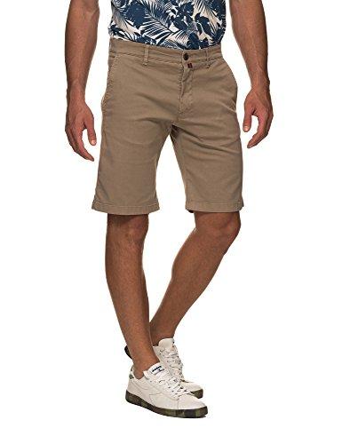 Dark Tape Shorts Stripped In Khaki Brooksfield Men's Details q4xZawn0F