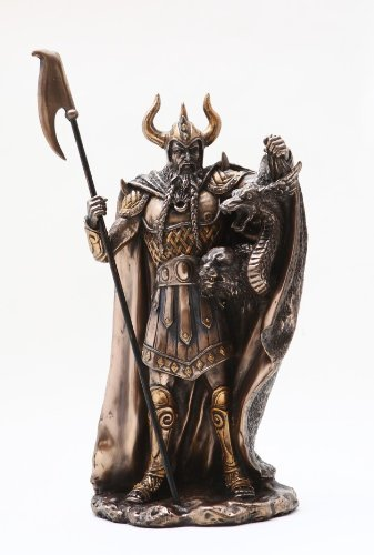 Loki Norse God Statue Bronze Finishing Cold Cast Resin Statue 10 3/8