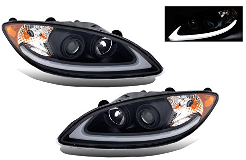 SPPC Projector Plank Style Black Headlight Assembly Set for International ProStar-(Pair) - Jdm Style Black Headlights