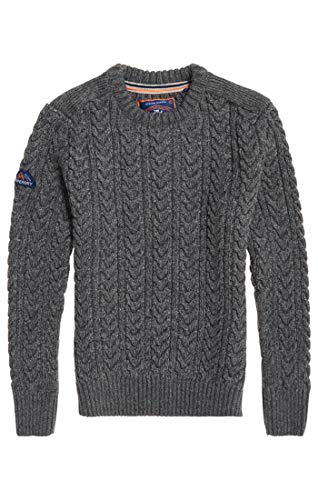 Pull Superdry Twist Ux9 graphite Homme Jacob Crew Grey Gris qSEZSaFzw