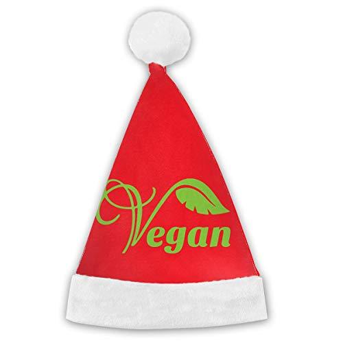 Vegan Vegetarian Christmas Years Xmas Santa Caps Children Adults ()