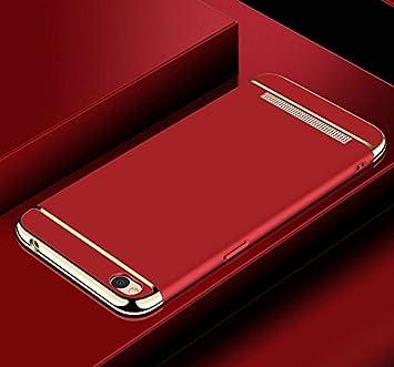 Tuanhui Carcasa Xiaomi Redmi 5A, Funda Blanda PC para Xiaomi Redmi 5A, Rojo.