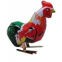 MAGIKON Vintage Pecking Cock Rooster Wind UP Tin Toy clockwork retro gift