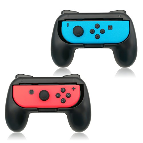 Wii Accessories Free Shipping (Grips for Nintendo Switch Joy-Con,FYOUNG Controllers for Nintendo Switch Joy Con - Black (2 packs))