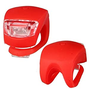 Bicycle Head Light, Cycling Front Light - 2X Silicone Bike Front Light, Bicycle Head Light, Cycling Front Light Rear Wheel LED Flash Light Bike Lamp