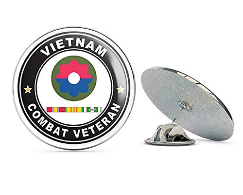 (US Army 9th Infantry Division Vietnam Combat Veteran with Ribbons Metal 0.75