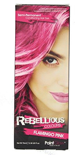 70's Hair Kit (Paintglow, Semi-permanent Hair Dye, Flamingo Pink, 70ml)
