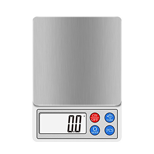 Digital Kitchen and Food Scale 2000g 3000g, Next-shine High-precision Pocket Scale, Multi-functionals Pro Scale with LCD Display, Tare, PCS, Back-lit (0.1g Pocket)