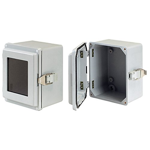 Cole Filtration (Pentair Hoffman A14107JFGQRR Type 4X Enclosure, fiberglass, quick-release, 14x10x7