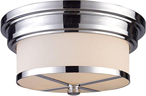 - Elk 15015/2 Flush Mount 2-Light In Polished Chrome