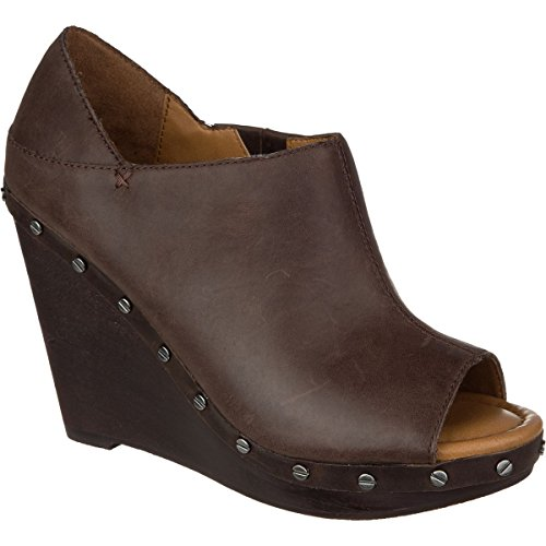 Dr. Scholls Sofia Wedge Shoe - Womens Oxford Brown Leather, 8.5