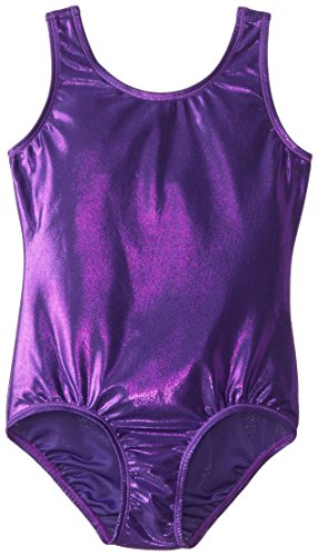 Purple Leotard - Danskin Big Girls' Gymnastics Solid Sparkle Leotard,Purple,Medium (8/10)