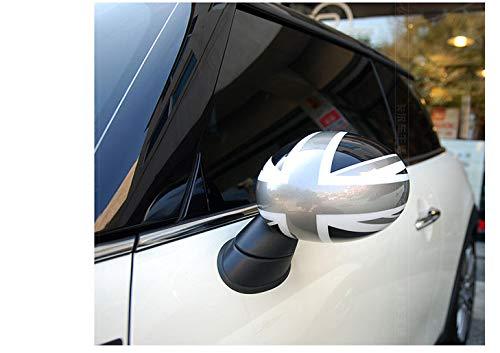 Topteng 2 x couvercles de r/étroviseurs Union Jack Wing pour Les miroirs repliables Power Cooper R55 R56 R60 de Mi-ni
