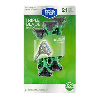 - Berkley Jensen Men's Triple-Blade Disposable Razor, 21 ct.