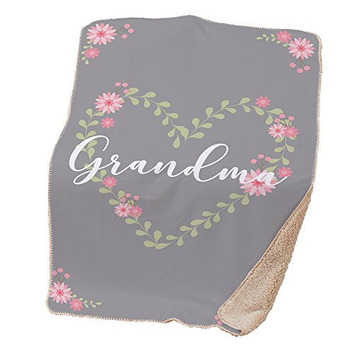 (GiftsForYouNow Floral Heart Sherpa Throw Blanket for Grandma, 37x57 )