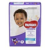 HUGGIES LITTLE MOVERS Diapers, Size 6 (35+ lb.), 18 Ct., JUMBO PACK (Packaging May Vary), Baby Diapers for Active Babies