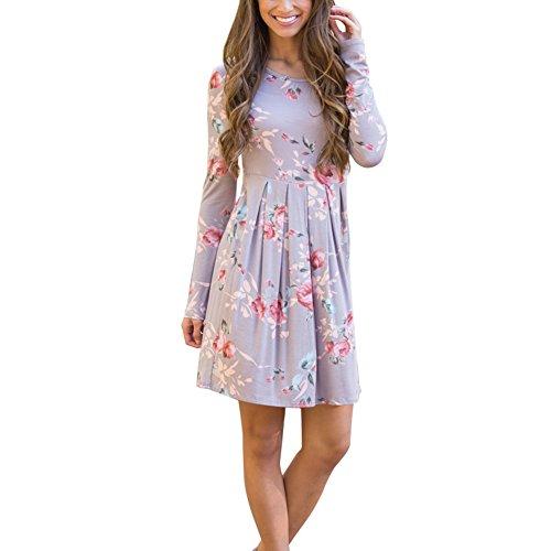 Lavender Floral Dress - 2