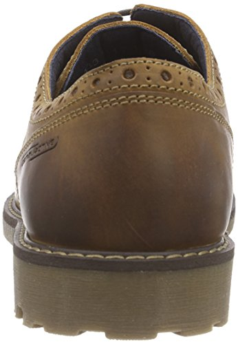 camel active Rocker 13 - Zapato brogue de cuero hombre Marrón (Cinnamon)