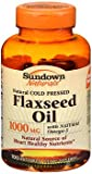 Sundown Naturals Cold Pressed Flaxseed Oil 1000 mg Softgels - 100 ct, Pack of 4