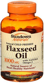 Sundown Naturals Cold Pressed Flaxseed Oil 1000 mg Softgels - 100 ct, Pack of 4 by Sundown Naturals