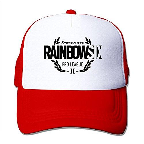 Six para Red Hat Comfortable Rainbow Aidear Vintage mujer Seat para Cap y Mesh hombre Style 5Y6RqZ
