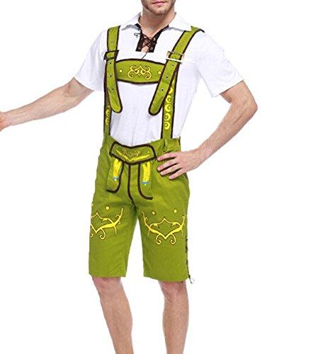 New Arrive Oktoberfest Costume Beer Festival October Dirndl Oktoberfest Men Beer Guy (Green Beer Maiden Costumes)