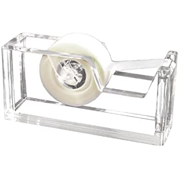 Kantek  Acrylic Tape Dispenser, 2 3/4 x 6 x 1 3/4 Inches , Clear (AD60)