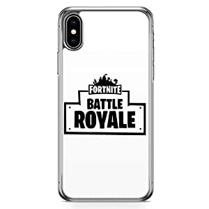 Loud Universe Transparent Edge iPhone XS Case Fits iPhone XS Fortnite Phone Case Minimalist Phone Case