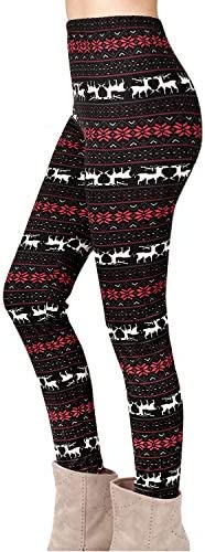 Ladies Xmas Legging Jegging Womens Rudolph Gifts Jersey Tree Bells Jegging Pants