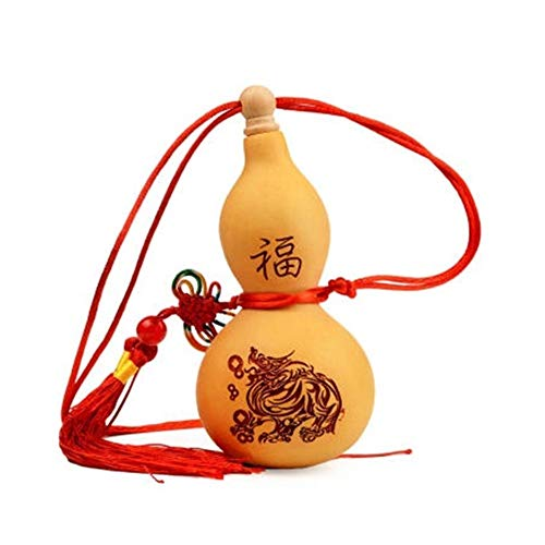 (JINSHANDIANLIAO Natural wine gourd pendant outdoor portable water bottle filled with water, wine, true gourd, jug, wooden plug, beeswax,anti-seepage,Home crafts, ornaments, 147cm (Size :)
