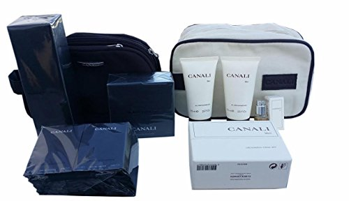 CANALI BLACK DIAMOND BIG GIFT SET includes 1 AFTER SHAVE 3.4 fl oz ,1 SHOWER CREAM 6.8 fl oz, 1 Toiletry set, 2 ALL OVER SHOWER GEL, 10 VIALS, and 2 TRAVEL POUCHES ITALY. Simply the BEST! by Canali