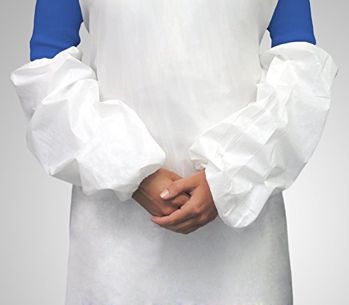 Tronex- Spunbond Sleeve Covers, Medical Grade, Impervious Coating, White (100 Pairs) by TRONEX