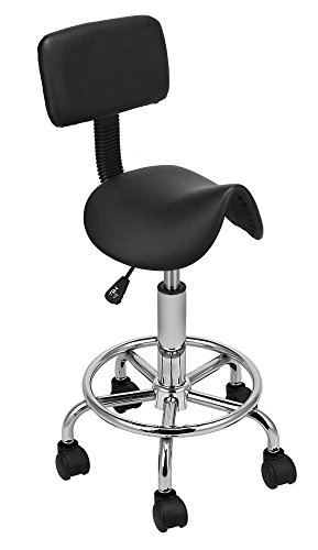 Hydraulic Saddle Salon Stool Massage Chair Tattoo Facial Spa Office Backrest from Unknown