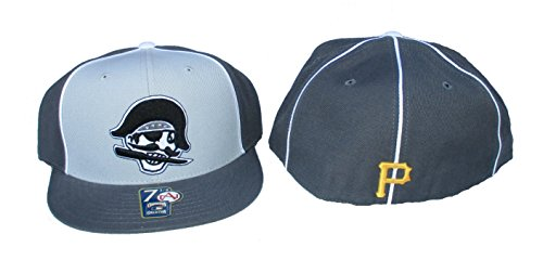 (American Needle Pittsburgh Pirates Gray Scale Fitted Size 7 5/8 Cooperstown Collection Hat Cap )