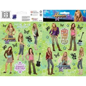 Hannah Montana Sticker Large Two-Sheet Pack - Hannah Party Favors Stickers Montana