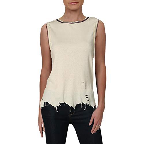 Free People Womens Ringer Vintage Boho Muscle Tank Ivory M (Free People Shorts)