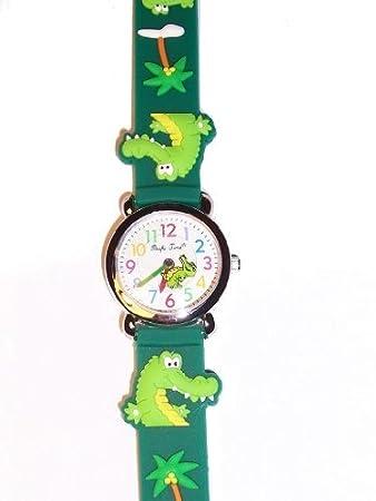 Armbanduhr kinder  Kinderuhr Uhr Kinder Armbanduhr Krokodil Dino Dinosaurier Jungen ...
