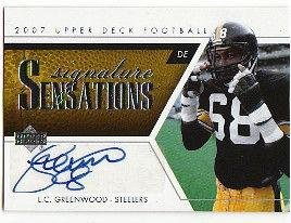 Steelers Greenwood Lc (2007 Lc Greenwood Steelers Signed Auto Ss-lg - Upper Deck Certified - NFL Autographed Football Cards)