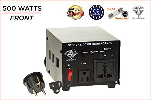 Dynastar Step Up & Step Down Voltage Converter and Transformer, 110-220 to 220-240 Volts; Heavy Duty, Extra Durable Lifetime Coil, 5-Year-Warranty, 500 Watts