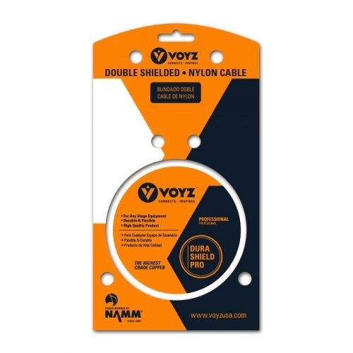 Amazon.com: VOYZ Professional Dual 1/4 Inch TRS Mono to 2 RCA Plug Nylon Audio Cable 6ft: Home Audio & Theater