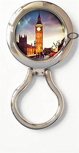 BlackKey London Big Ben Tower Magnetic Metal Eyeglass Badge Holder, Eye Glass Holding Brooch ()