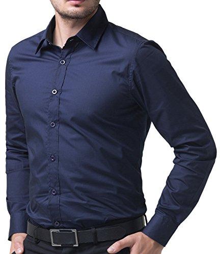 Paul jones men 39 s slim fit basic button down shirts size m for Best mens dress shirts online
