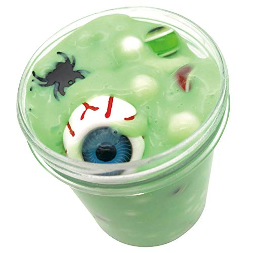 Gbell Halloween Scary Eyeball Fluffy Cloud Slime Fairy Putty Mud,60/120ml Jumbo Floam Slime Stress Relief Toy Scented Sludge Toy for Girls Boys Kids and Adults,Super Soft and Non-Sticky (Green 120ML) ()